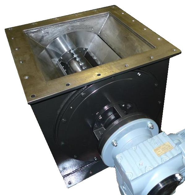 Waste handling rotary valve
