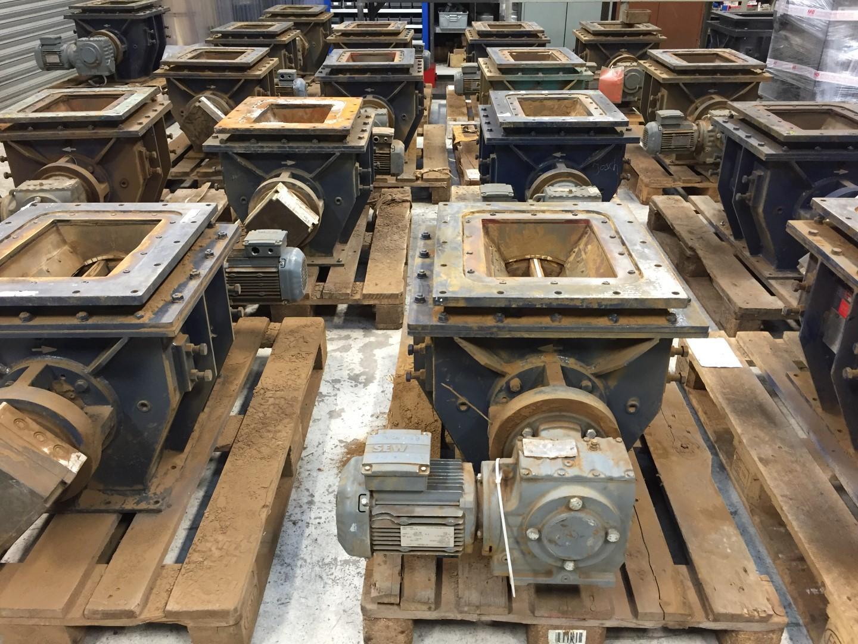 TWA ceramic valves awaiting reconditioning